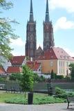 De Kathedraalkerk in Wroclaw, Polen royalty-vrije stock afbeelding