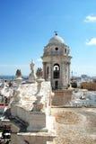 De Kathedraalklokketoren van Cadiz royalty-vrije stock fotografie
