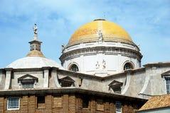De Kathedraalkoepel van Cadiz stock fotografie