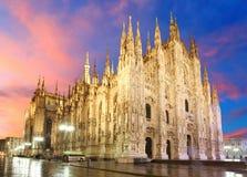 De kathedraalkoepel van Milaan royalty-vrije stock foto's