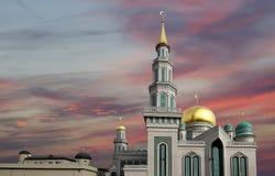 De Kathedraalmoskee van Moskou, Rusland -- de belangrijkste moskee in Moskou stock afbeelding