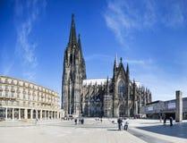 De Kathedraalpanorama van Keulen, Duitsland, redactie Royalty-vrije Stock Foto's