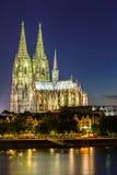 De Kathedraalrivier Rijn van Keulen Stock Afbeelding