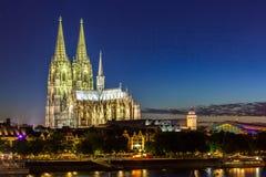 De Kathedraalrivier Rijn van Keulen Royalty-vrije Stock Afbeelding