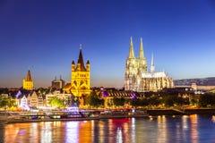 De Kathedraalrivier Rijn van Keulen Stock Foto's
