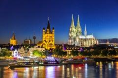 De Kathedraalrivier Rijn van Keulen Stock Fotografie