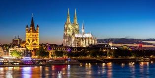 De Kathedraalrivier Rijn van Keulen Royalty-vrije Stock Foto
