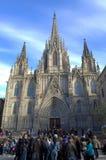 De Kathedraaltoeristen van Barcelona stock foto's