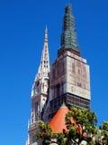 De kathedraaltorens van Zagreb Stock Afbeelding