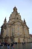 De kathedraalvierkant van Dresden stock afbeeldingen