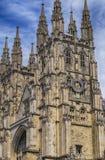De Kathedraalvoorgevel van Canterbury in Canterbury, Kent, het UK Stock Fotografie