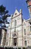 De Kathedraalvoorgevel van Napels, Italië Royalty-vrije Stock Afbeelding