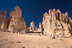 De kathedralen van de rots in Salar DE Tara, Chili Royalty-vrije Stock Fotografie