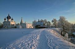 De Kathedralen van het Kremlin van Suzdal. Stock Afbeeldingen