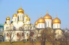 De kathedralen van Moskou het Kremlin stock fotografie