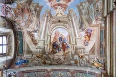 De Katholieke Kathedraal van de Veronderstelling van Maagdelijke Mary en St Stanislaus in Mogilev wit-rusland royalty-vrije stock foto