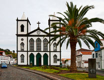 De katholieke Kerk in de stad Lajes do Pico Royalty-vrije Stock Foto
