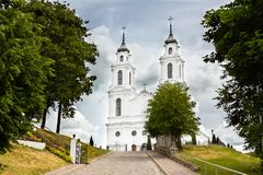 De Katholieke kerk in Ludza Stock Foto
