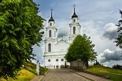 De Katholieke kerk in Ludza, Letland Stock Fotografie