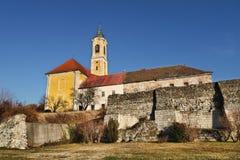 De katholieke kerk in VÃ ¡ c, Hongarije Stock Afbeelding