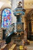 De Katholieke kerk van Basilique Saint Sauveur in Rennes van de binnenstad, Frankrijk Stock Foto's