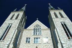 De Katholieke Kerk van het Heiligdom van Martry die door John Paul II wordt bezocht Stock Foto