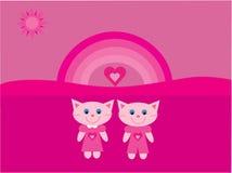De katten van de liefde royalty-vrije illustratie