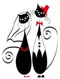 De katten van het echtpaar Stock Foto