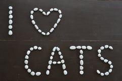De katten van het liefdebericht Stock Fotografie