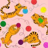 De kattenachtergrond van de pot. huisdieren textuur Royalty-vrije Stock Afbeeldingen