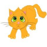 De kattenillustratie van het beeldverhaal. huisdieren karakter Stock Foto