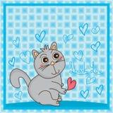 De kattenleugenaar dankt u Stock Foto