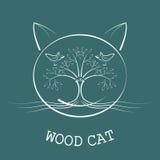 De kattenpictogram van de lijnstijl of drukmalplaatje, vector Royalty-vrije Stock Afbeeldingen