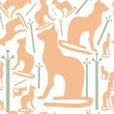De kattensilhouet van Egypte Royalty-vrije Stock Foto's