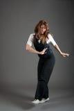 De Kaukasische Vrouwelijke Danser van de Jazz Royalty-vrije Stock Afbeeldingen