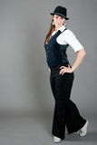 De Kaukasische Vrouwelijke Danser van de Jazz Royalty-vrije Stock Foto