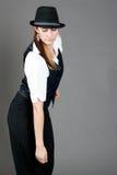 De Kaukasische Vrouwelijke Danser van de Jazz Royalty-vrije Stock Afbeelding