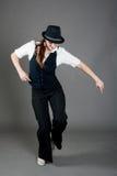 De Kaukasische Vrouwelijke Danser van de Jazz Stock Afbeeldingen