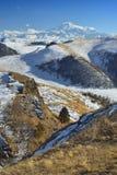 De Kaukasus in de winter Stock Afbeelding