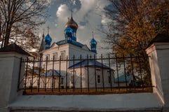 De Kazan Kerk Gorokhovets Het Vladimir-gebied Het eind van September 2015 Royalty-vrije Stock Afbeeldingen