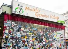 De Kebab van Gemuese van Mustafa in Berlijn stock foto's