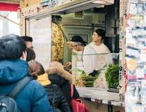 De Kebab van Gemuese van Mustafa in Berlijn royalty-vrije stock foto's