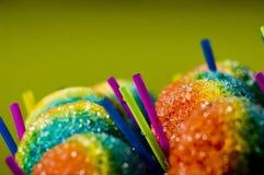 De Kegel van de Sneeuw van de regenboog Stock Foto