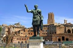 De Keizer Caesar het forum van Trajan stock foto