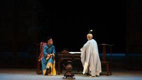 "De keizer en Taoist priester-Shanxi Operatic""Fu Shan aan Beijing† stock footage"