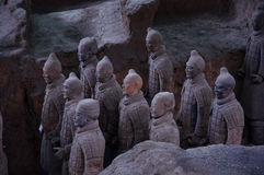 De keizer en zijn militairen Royalty-vrije Stock Afbeeldingen
