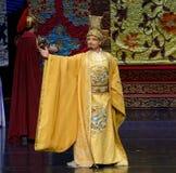 De keizer van de tweede handeling van Tang Dynasty-The: een feest in de van het paleis-heldendicht de Zijdeprinses ` dansdrama ` stock foto's