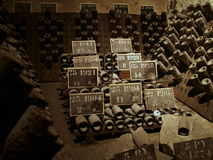 De Kelder van Champagne Stock Afbeeldingen