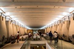 De kelder van Chateaucheval blanc, emilion van heilige, rechteroever, Bordeaux, Frankrijk Stock Foto