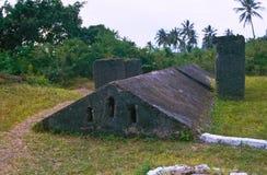 De kelder van de slavernij in Zanzibar Stock Afbeeldingen